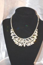 Vintage Signed WEISS Clear Rhinestone Collar Necklace - $98.00