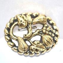 Antique Victorian Gold Fruit Vine Brooch - $185.00
