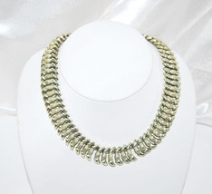 Vintage Coro Silver Tone Metal Articulated Necklace - $18.00