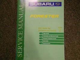 2001 Subaru Forester Mechanism Function Section 2 Service Repair Shop Manual OEM - $39.56