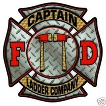 Captain Ladder Company - Full Color Diamond Plate Highly Reflective Decal - $2.23