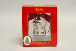 SPODE CHRISTMAS TREE SNOWMAN SNOWBALL ORNAMENT - $19.00