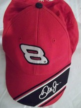 Nascar Driver #8 Dale Jr. Cap/Hat-Red with Black&White-Size:Adult One Si... - $9.99