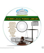 Over 13,000 Printable Editable Legal Forms on C... - $10.95