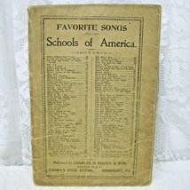 1904 SONG BOOK FAVORITE SONGS OF SCHOOLS OF AMERICA - $16.82