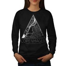 Denmark Copenhagen Jumper Big Town Map Women Sweatshirt - $18.99