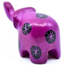Tabaka Chigware Hand Carved Kisii Soapstone Miniature Fuschia Elephant Figurine image 2