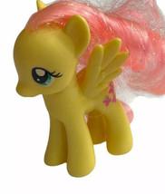 """2010 My Little Pony 3"""" Fluttershy Figure Yellow Pink Butterflies - $7.91"""