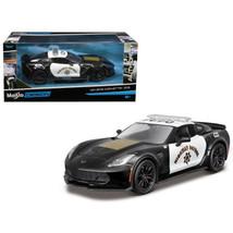 2015 Chevrolet Corvette C7 Z06 Highway Patrol Police Car 1/24 Diecast Mo... - $31.17
