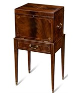 Silver Chest on Stand Scarborough House Marquetry Crotch - $3,859.00