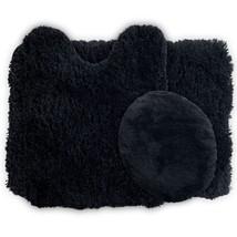 3 Piece Super Plush Non Slip Toilet Bathroom Mat Rug Set 100% Polyester ... - $36.01