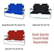 Sport Couch Vinyl Backed Polyester Foldable Ultralight Compact Resists R... - $164.99