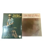 Jim Croce Sheet Music Bad bad Leroy Brown & Ill have to say love you in ... - $18.69