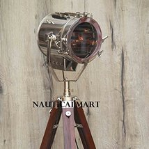 Vintage Chrome Finish Tripod Light Ideal Floor Lamp By Nauticalmart - $187.11