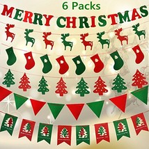 Fascola 6 Pack of Christmas Banners 15 Ft 6 Types 55 Pieces 2018 Newest ... - £16.16 GBP