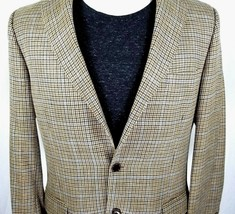 Brooks Brothers Sport Coat 42 Long Silk Wool Linen Silk 3 Roll 2 Brown B... - $69.25
