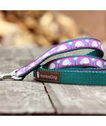 Ladybug Purple Jacquard Dog Leash (120cm, 4ft.) / Made in Japan - $36.00