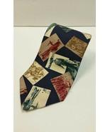 Eddie Bauer Neck Tie Fishing 100% Silk Fisherman pictures Novelty Vintage - $14.18