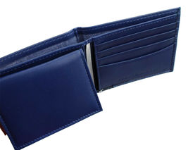 Tommy Hilfiger Men's Leather Wallet Passcase Billfold Red Navy 31TL22X051 image 11
