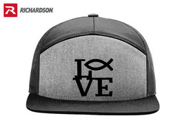 I LOVE GOD RELIGION CHRISTIAN RICHARDSON FLAT BILL SNAPBACK HAT SHIPPING... - $19.99