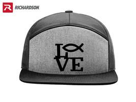 I LOVE GOD RELIGION CHRISTIAN RICHARDSON FLAT BILL SNAPBACK HAT SHIPPING... - $19.99