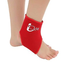PANDA SUPERSTORE 1 Pcs Breathable Ankle Foot Brace Support Pad Free Size RED
