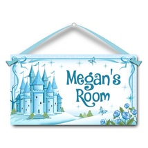 "Ice Castle, Kids Door Sign, 5.5"" x 10.5"", Personalized Name Plaque - $13.00"