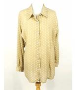 SUSAN GRAVER Size 3X Polka Dot Georgette Blouse Long Length - $22.99