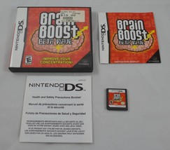 Nintendo DS Brain Boost Beta Wave Complete Game w/ Case & Booklet Tested... - $7.99