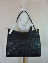 NWT Tory Burch Black Fleming Shoulder Tote - $512.81