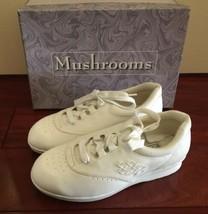 Vintage NIB Box 1990s 90s Mushrooms Women Shoes Sneaker White Sz 7 Nurse Vegan image 1