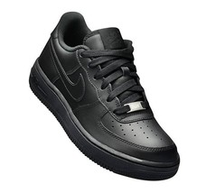 Nike Air Force 1 Low Black GS 314192-009 Leather Shoes Youth 4Y-7Y - $74.95