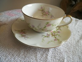 Theodore Haviland (New York) Rosalinde cup and saucer 6 available - $13.32
