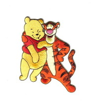 Walt Disney's Winnie the Pooh and Tigger Figures Hugging Embroidered Pat... - $7.84
