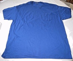 Hanes Heavyweight adult XXL 2XL 50-52 mens short sleeve shirt royal blue... - $10.65