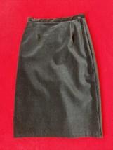 Laura Ashley Black Velvet Women's Skirt Size 6 Pencil Straight - $19.80