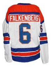 Custom Name # San Diego Mariners Retro Hockey Jersey White Falkenberg Any Size image 2