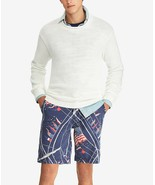 """NEW MENS POLO RALPH LAUREN RELAXED FIT 10"""" NAUTICAL FLAG PRINT BLUE SHORTS 34 - $39.59"""