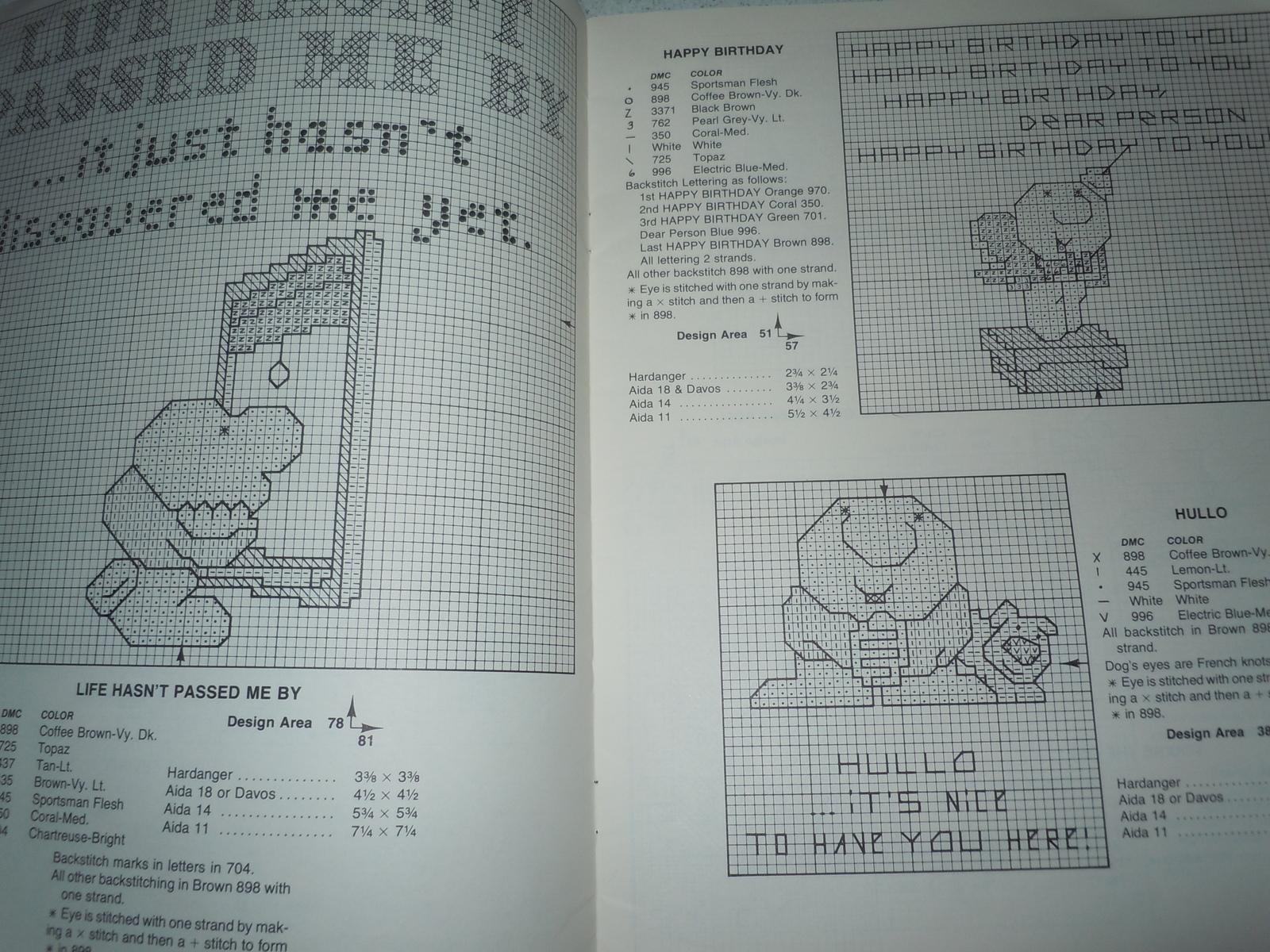 Ziggy Counted Cross Stitch Pattern Book Paragon Needlecraft