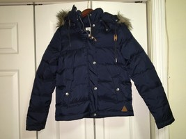 H&M Fur Trimmed Puffer Down Jacket Size 4 - $60.00