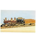 Railroad Wooden Model Train Showcase Illinois Central 4-6-0 Locomotive P... - $4.99