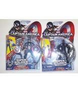Captain America 2 Figure Set of 2 Different Captain America's NEW - $14.49