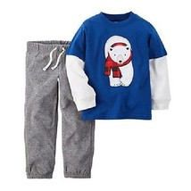 Carters Infant Boys Polor Bear  2pc Set Pants Outfit Size- 12M NWT - $13.99