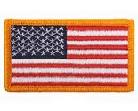 Red/White/Blue US Regular Flag Patch with Velcro Closure (1 7/8'' x 3 3/8'')
