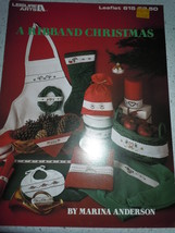 A Ribband Christmas Cross Stitch Pattern Booklet Leisure Arts Leaflet 615 - $4.99