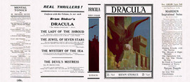 Bram Stoker DRACULA facsimile dust jacket for 1928 Rider UK edition - $21.56
