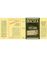 Bram Stoker DRACULA facsimile dust jacket for Grosset & Dunlap 1927 oran... - $21.56