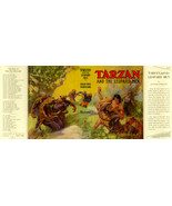 Burroughs facsimile dust jacket for 1st G & D TARZAN AND THE LEOPARD MEN - $21.56