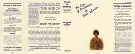 Edith Wharton THE AGE OF INNOCENCE facsimile dust jacket - $21.56