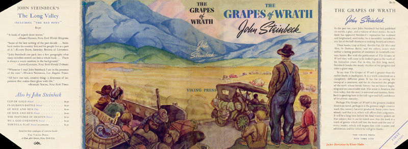 John Steinbeck GRAPES OF WRATH facsimile dust jacket for first & early editions